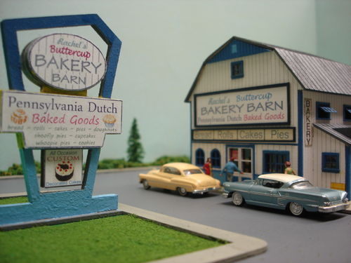 PDM 2028 HO scale Village Bakery Barn