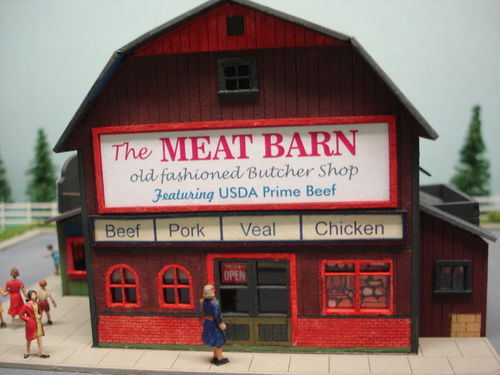 PDM 2029 HO scale The Meat Barn